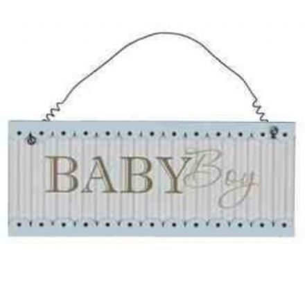 'Baby Boy' Hanging Plaque